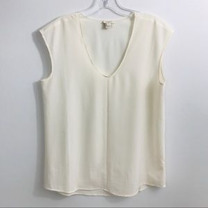 J. Crew Ivory Sleeveless Cami Shell Blouse